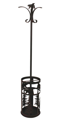 Add our Bear Rustic Lodge Décor Metal Umbrella Stand and Coat Rack to your entryway and collect coats and umbrellas all at one time