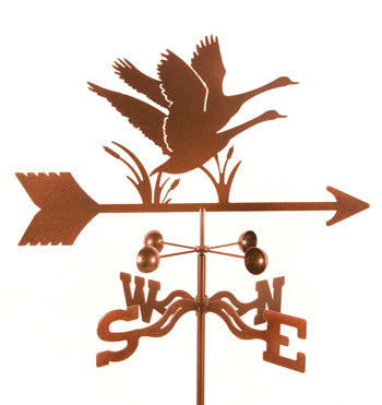 Combine function and yard art with our Geese Rain Gauge Garden Stake Weathervane