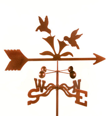 Combine function and yard art with our Hummingbird Rain Gauge Garden Stake Weathervane