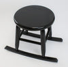 Our black Handcrafted Wood Rocking Garden Stool