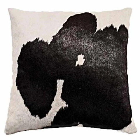 Our Black and White Cowhide Reversible Throw Pillows With Down Filled Insert  are beautiful accent pillows for any room in your home are available in 18