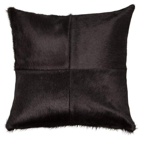 "Our 18"" and 22"" square Black Cowhide Reversible Throw Pillows With Down Filled Insert are beautiful accent pillows for any room in your home"