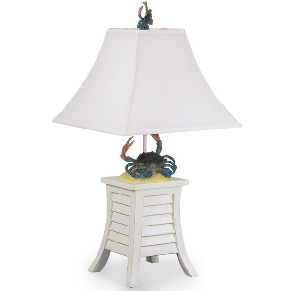 Add flair to your nautical decor with our Blue Crab Coastal Cottage Table Lamp