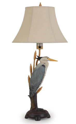 Capture the beauty of this bird with our Blue Heron Indoor Outdoor Table Lamp