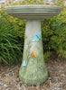 Our Butterflies Handcrafted Clay Birdbath Set is beautifully handcrafted and painted in the USA