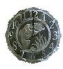 This bass fish clock is just a sample of our 14 gauge black and silver combination clocks