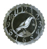 This crow clock is just a sample of our 14 gauge black and silver combination clocks