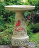 Our Cardinal Handcrafted Clay Birdbath Set is beautifully handcrafted and painted in the USA