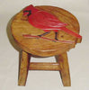 Bluebird Hand Carved and Hand Painted Wood Footstool - inthegardenandmore.com