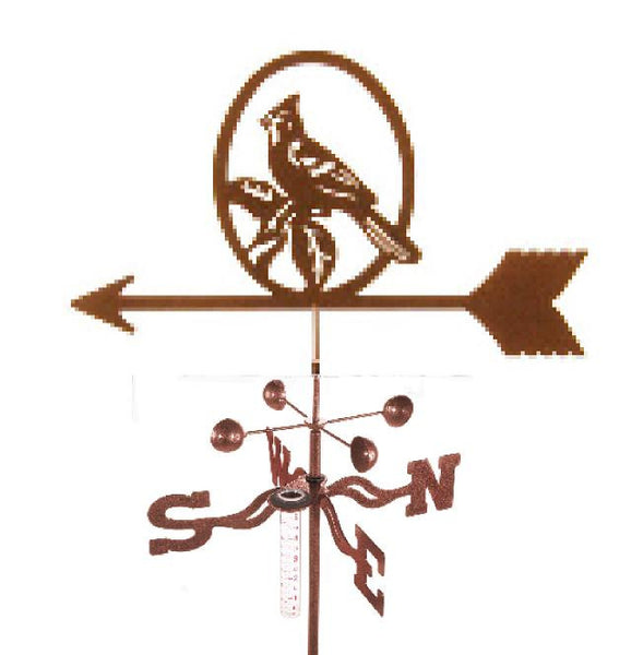Combine function and yard art with our Cardinal Rain Gauge Garden Stake Weathervane