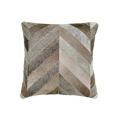 "Our 22"" square Chevron Mix Cowhide Reversible Throw Pillows With Down Filled Insert are beautiful accent pillows for any room in your home"