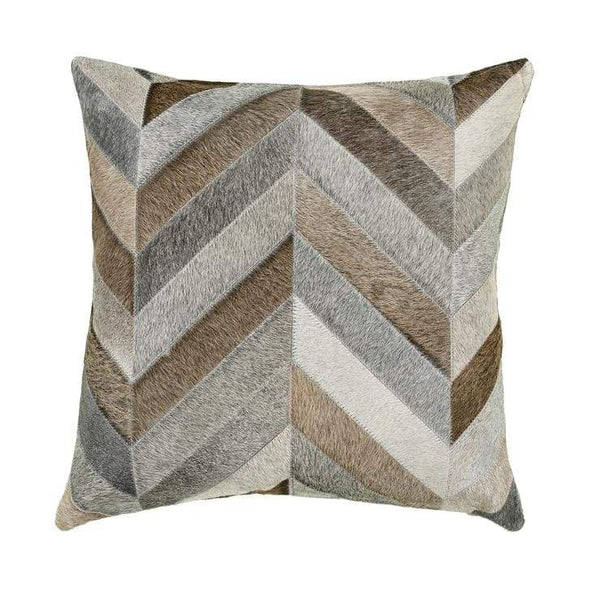 "Our 18"" square Chevron Mix Cowhide Reversible Throw Pillows With Down Filled Insert are beautiful accent pillows for any room in your home"