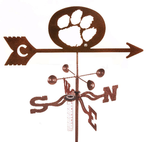 Clemson University Tigers Collegiate Rain Gauge Garden Stake Weathervane