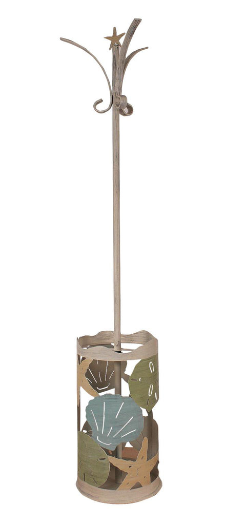Add our Coastal Cottage Décor Metal Umbrella Stand and Coat Rack to our entryway to collect coats and umbrellas and add style and function at the same time