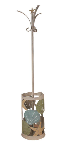 Coastal Cottage Décor Metal Umbrella Stand and Coat Rack
