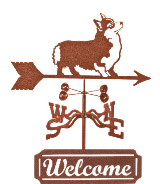 Combine welcome, function and yard art with our Corgi Dog Rain Gauge Weathervane and Welcome Sign