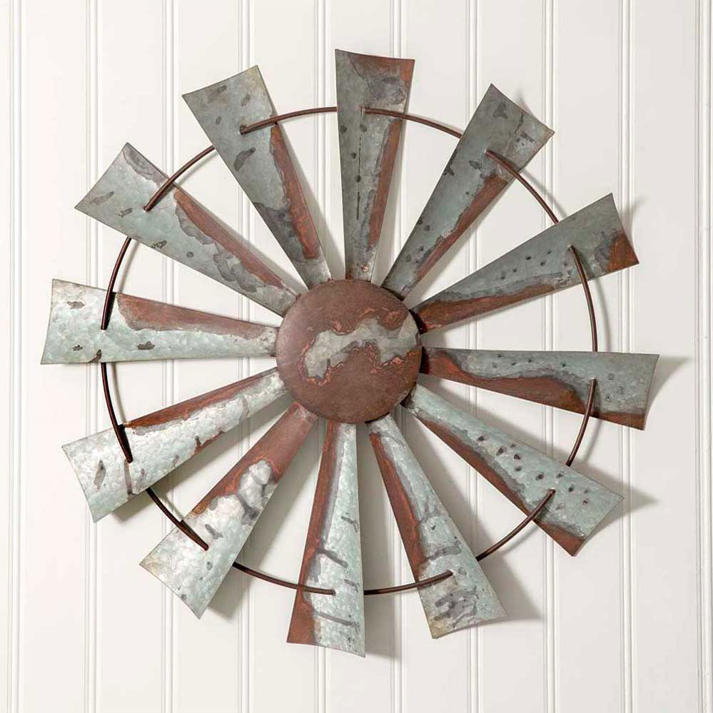 Express your wall with our Country Farmhouse Metal Windmill Wall Decor