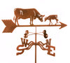 Combine function and yard art with our Cow and Calf Rain Gauge Garden Stake Weathervane