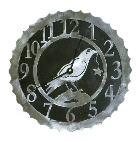 Our Crow Handcrafted Rustic Metal Wall Clock - 12
