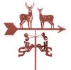 Combine function and yard art with our Buck and Doe Standing Deer Rain Gauge Garden Stake Weathervane