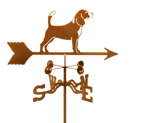 Combine function and yard art with our Beagle Dog Rain Gauge Garden Stake Weathervane