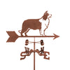 Border Collie Dog Rain Gauge Garden Stake Weathervane