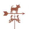 Combine function and yard art with our Chihuahua Dog Rain Gauge Garden Stake Weathervane