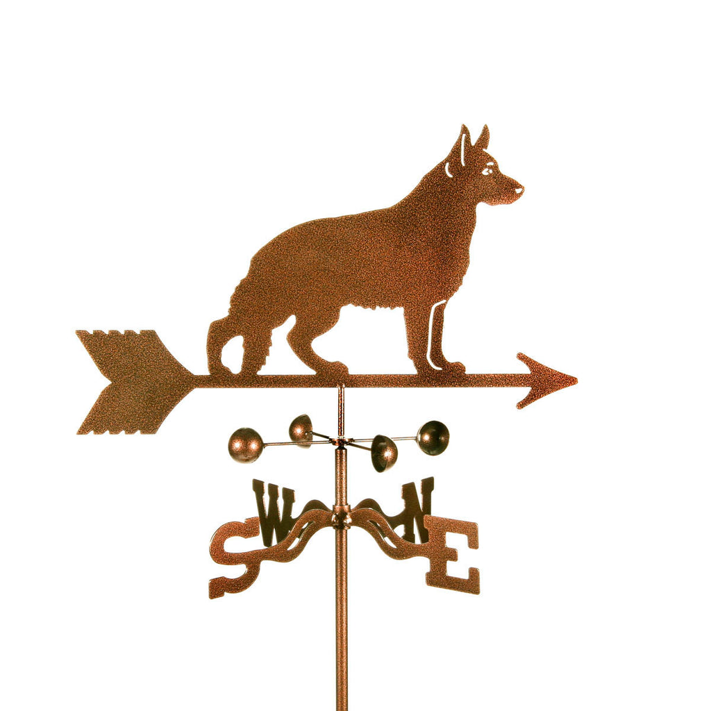 German Shepherd Dog Rain Gauge Garden Stake Weathervane