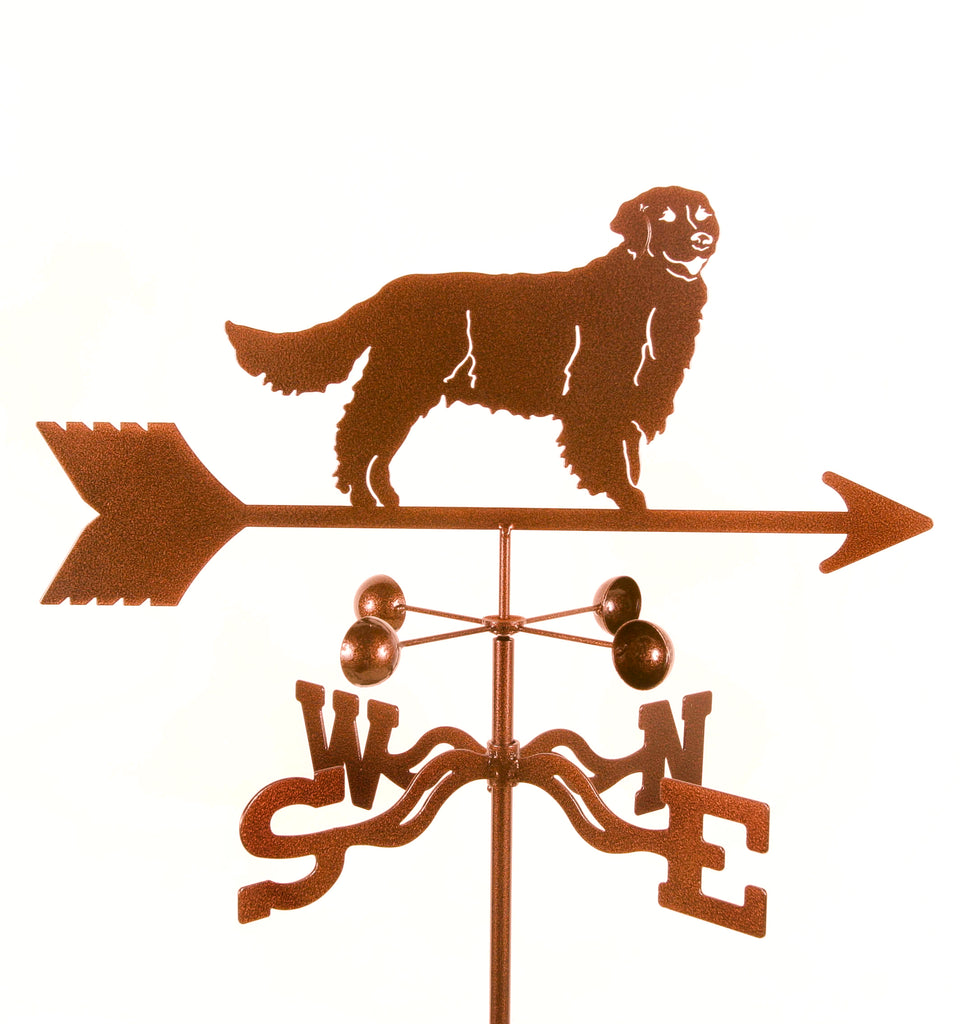 Golden Retriever Dog Rain Gauge Garden Stake Weathervane