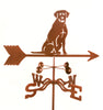 Combine function and yard art with our Laborador Retriever Dog Rain Gauge Garden Stake Weathervane