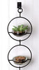 Double Metal and Glass Hanging Wall Terrarium / Candle Holder / Bird Feeder