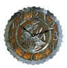 Our Ducks in the Cattails Handcrafted Rustic Metal Wall Clock - 12
