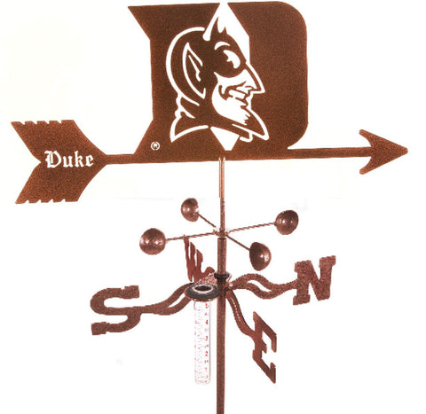 Duke University Blue Devils Collegiate Rain Gauge Garden Stake Weathervane