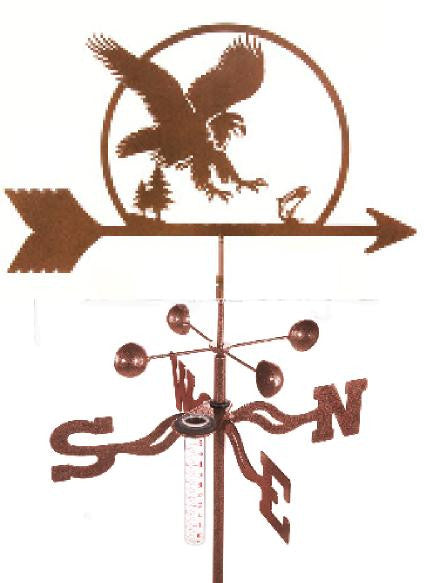 Combine function and yard art with our Eagle Rain Gauge Garden Stake Weathervane