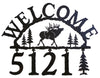 Our Elk Handcrafted Metal Welcome Address Sign is great for your cabin or home and you can customize it with hanging numbers and symbols of your choice