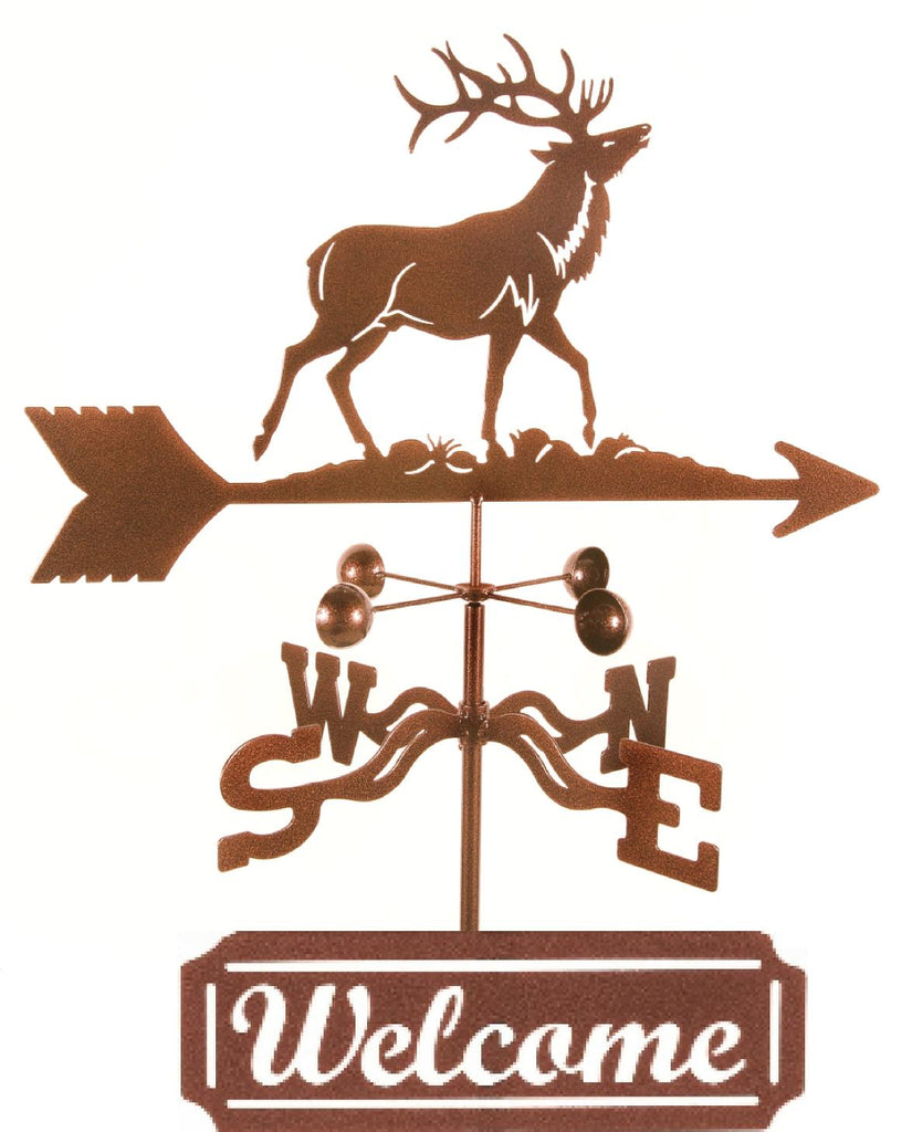 At function and style to your garden with our Elk Rain Gauge Weathervane and Welcome Sign
