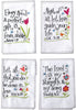 These very colorful Embroidered Inspirational Hand Towels With Scriptures (set of 8) will add an inspiring message to your kitchen, bathroom, or even as inspirational gifts.