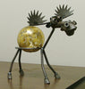 Moose Recycled Scrap Metal Statuary and Potted Plant Holder
