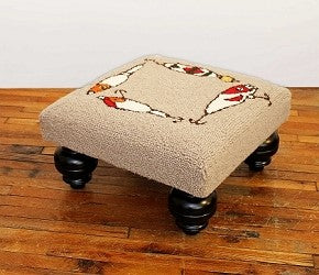Fishing Lures Handcrafted Hooked Wool Footstool