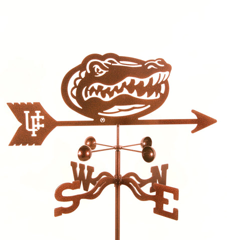 Show your team support with our Florida Gators Rain Gauge Garden Stake Weathervane