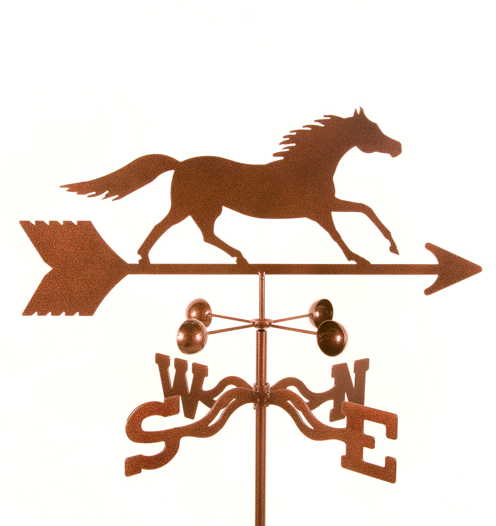 Made in the USA, our Galloping Horse rain gauge weathervane is a multi-functional weather station
