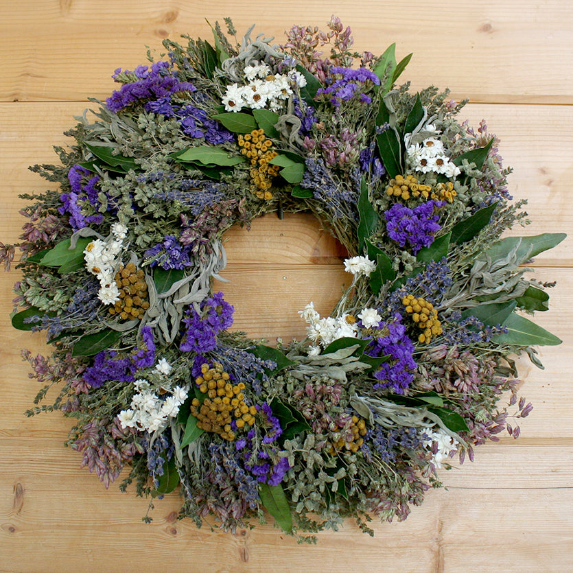 Garden Herbs Natural Dried and Preserved Wreath - 18""