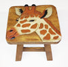Our Giraffe Handcrafted Wood Stool Footstool is great for adults and children and handcrafted by skilled artisans
