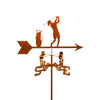 Combine function and yard art with our Female Golfer Rain Gauge Garden Stake Weathervane