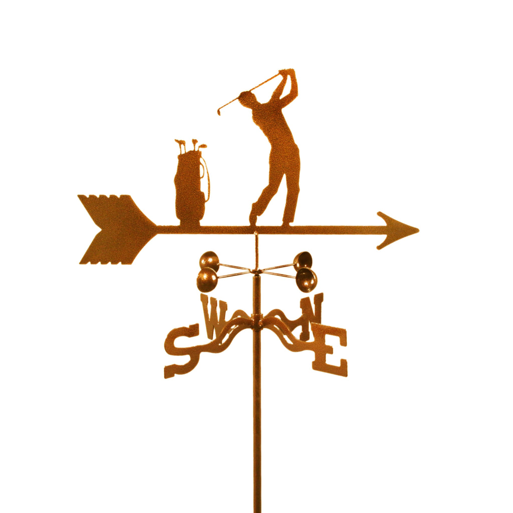 Combine function and yard art with our Male Golfer Rain Gauge Garden Stake Weathervane