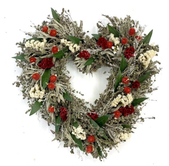 Heart's Desire Dried and Preserved Wreath – 15""