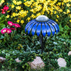 Our Indigo Blue Coneflower Solar Light Garden Stake Statuary comes as a set of two and great for walkways, in between flowers and great with our cactus décor as well.