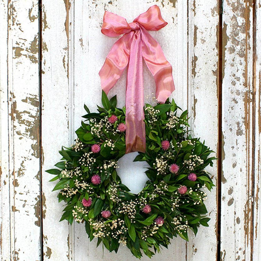 It's A Girl Fresh and Fragrant Wreath – 10""