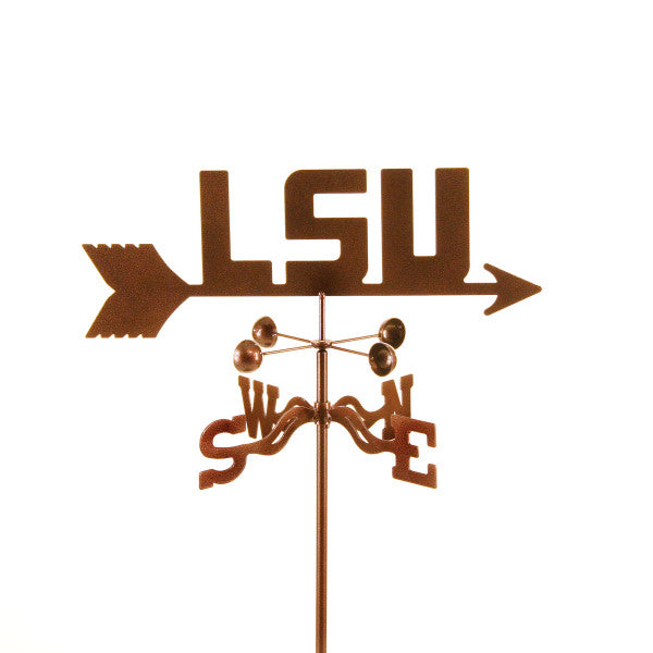 Show your team support with our Louisiana State University Tigers Collegiate  Rain Gauge Garden Stake Weathervane