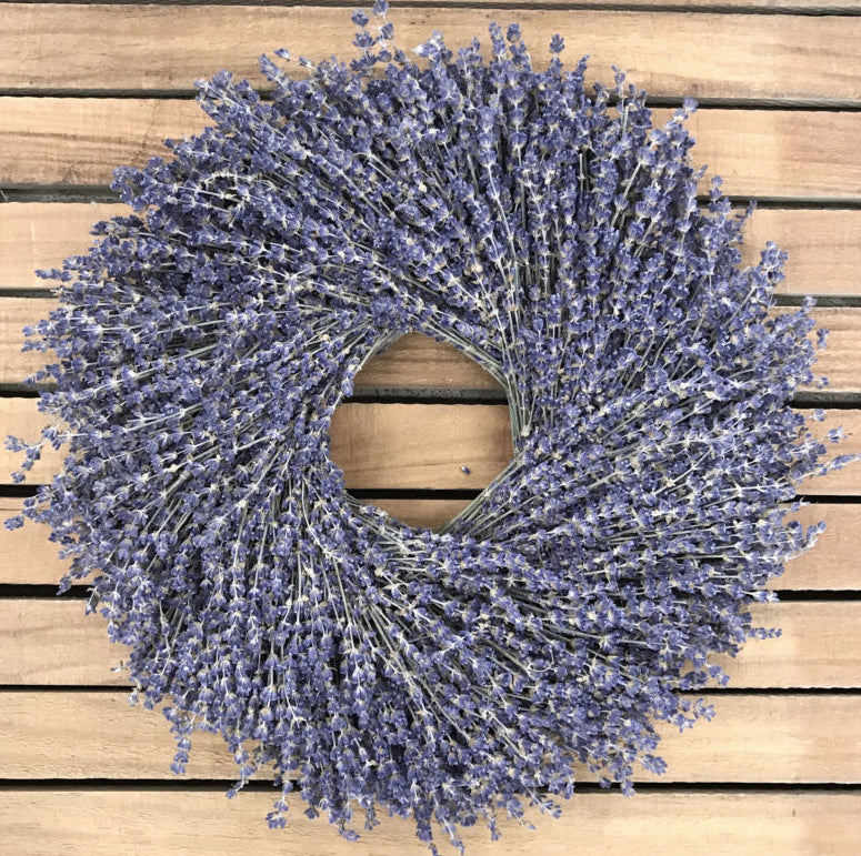 Lavender Natural Dried and Preserved Wreath – 16""